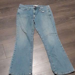 Levi's boot cut blue jeans